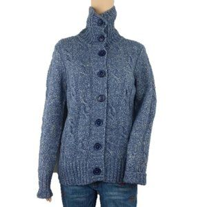 L.L.Bean Chunky Cable Knit Button Down Sweater